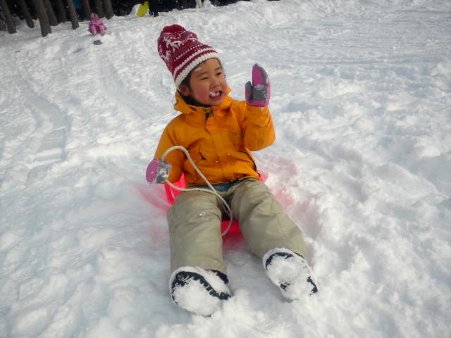雪だーっ!