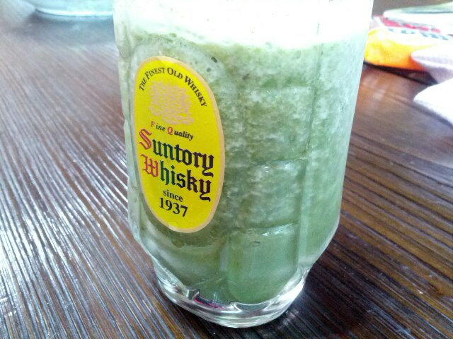 緑色の朝食